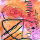 Gr. K Watercolor Abstract with 8 types of lines by Victoria Avila