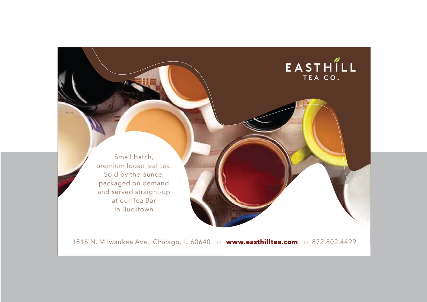 Easthill | Tea Shop | Hands-out by Nathalie Gribinski