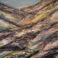 Acrylic painting Desert Strata by David Tycho
