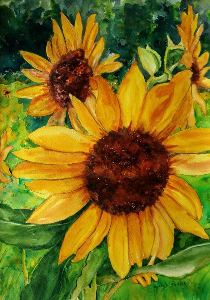 sunflowers by Judy Fowler