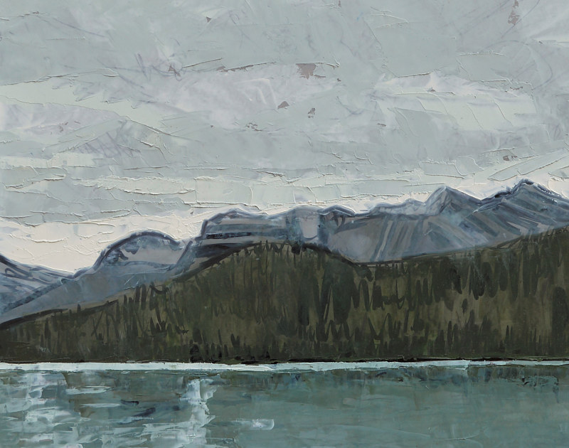 Oil painting Icefields by Julie Gladstone