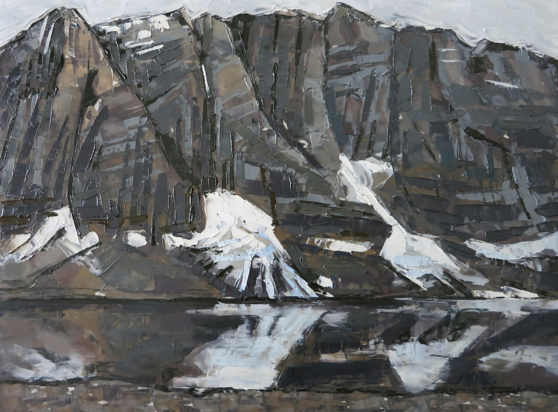 Oil painting Rockwall by Julie Gladstone