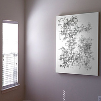 "Collector Image - Single-Line Drawing ""Cormorant"" - 48x36 inches by John Hovig"
