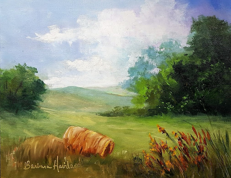 Oil painting  Leftover Hay by Barbara Haviland