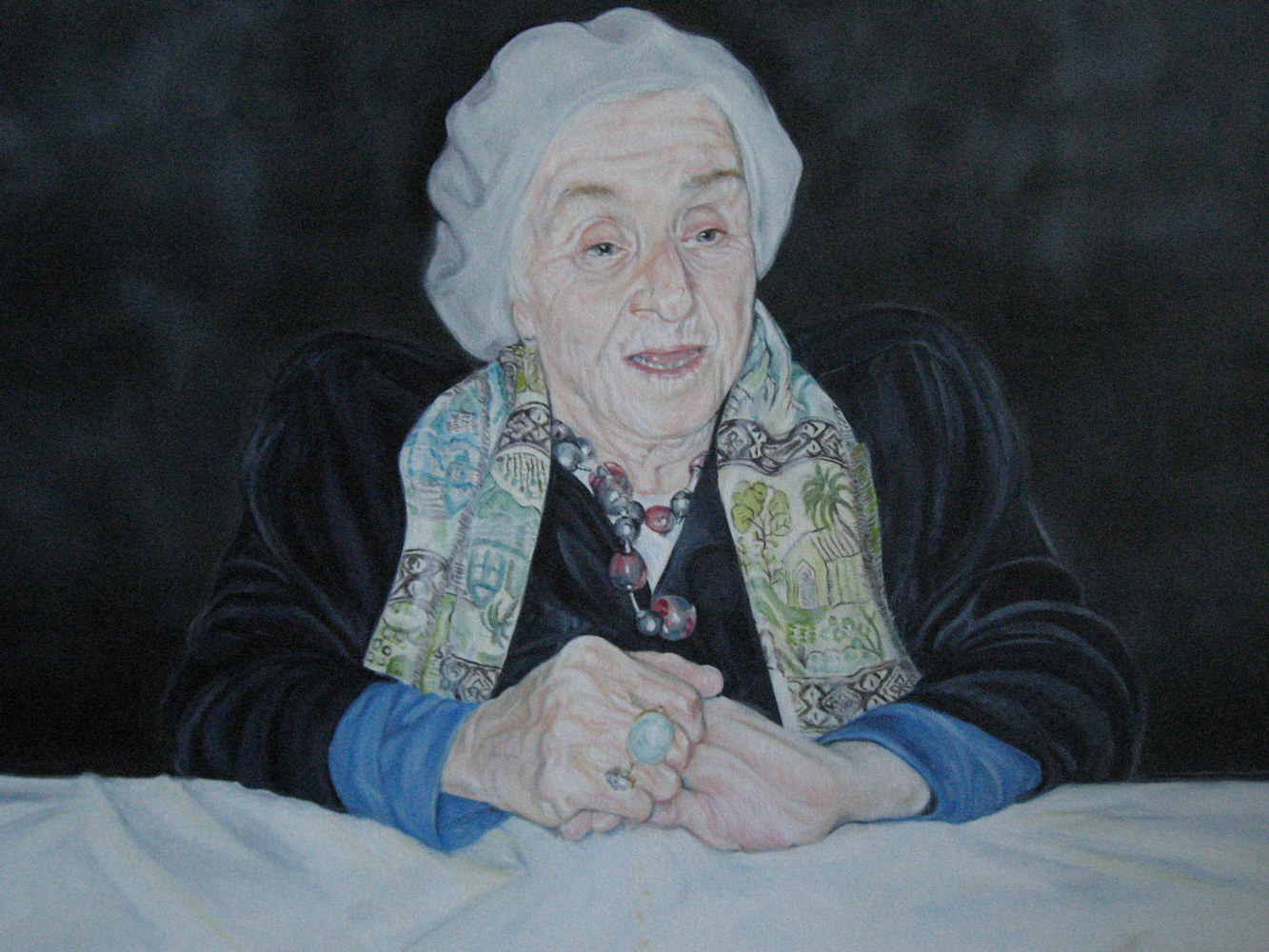 Oil painting Alex's Grandmother: Maria Octavia by Judith  Elsasser