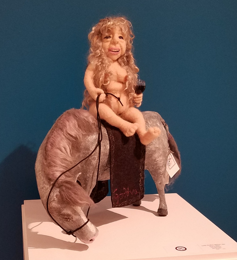 Sculpture Lady Godiva relives her glory days by Valerie Johnson