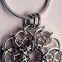 Chainmaille Flower Pendant by Vicki Allesia