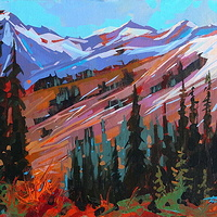 Below Peak to Peak Acrylic 12x16 2012 by Brian  Buckrell