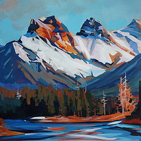 Overlooking the Bow Acrylic 24x36 2011 by Brian  Buckrell