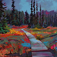October Colours Strathcona Park Acrylic 20x30 2010 by Brian  Buckrell