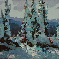 Winter Colours Acrylic oc 18x24 2010 by Brian  Buckrell