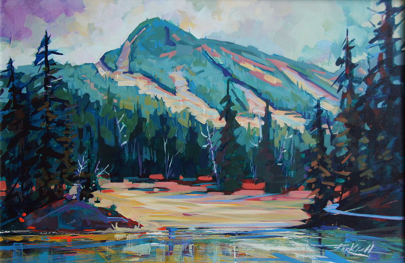 Beyond the Meadows  Acrylic 20x30 2012 (2) by Brian  Buckrell