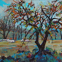 Fall Pastures  Acrylic 20x30 2009 by Brian  Buckrell