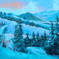 Into Strathcona Acrylic 20x23 2008 by Brian  Buckrell