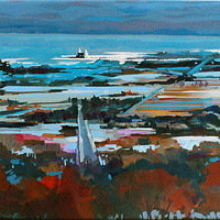 Down to the Bay Acrylic 18x24 2010_resize by Brian  Buckrell
