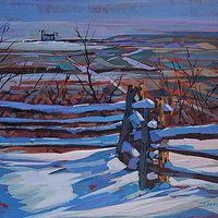 Winter Above Collingwood Acrylic 14x18   2011 by Brian  Buckrell