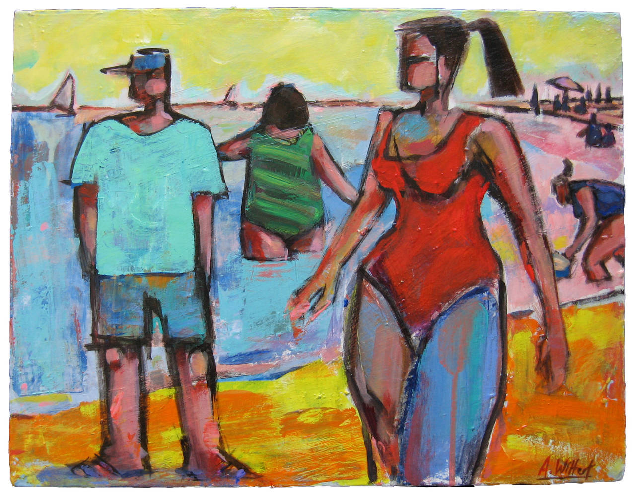 Beach Walker 20 x 16'' by Allen  Wittert