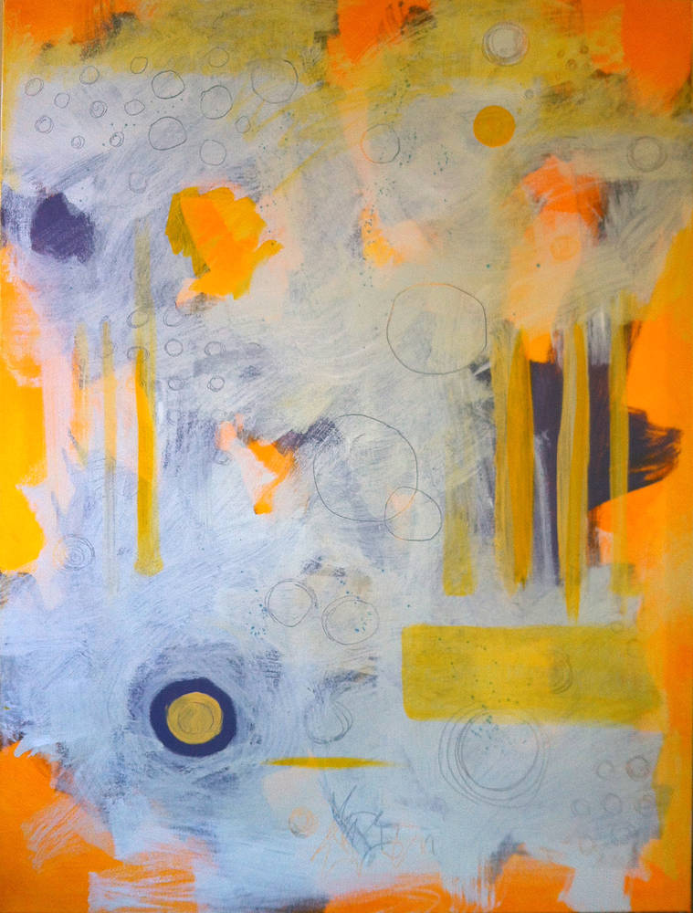 Acrylic painting Orange Julius by Allyson Malek