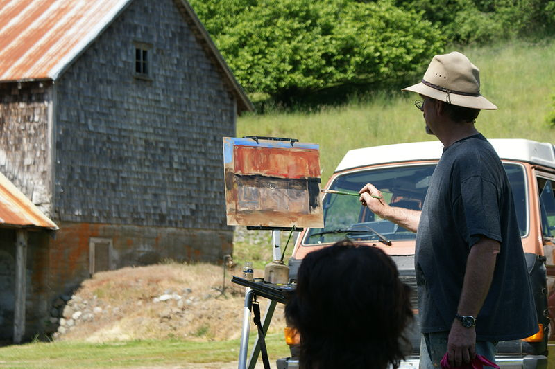 Brent Lynch, friend and great painter, Vancouver Island  by Brian  Buckrell