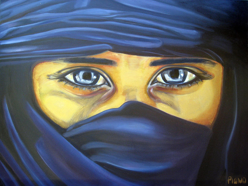 Oil painting Tuareg by Grace ann  Piano