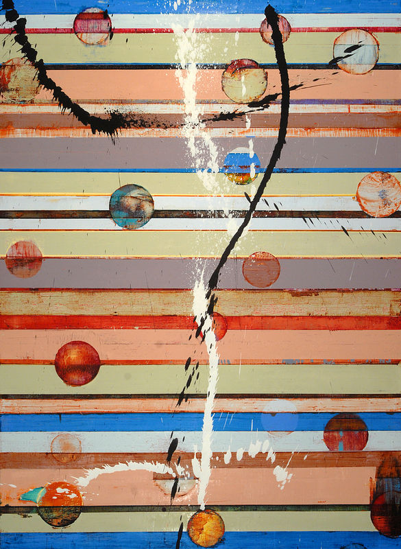 "Wishing for Water: oil, wax on linen, 52"" x 38"" 2006  by Judy Southerland"