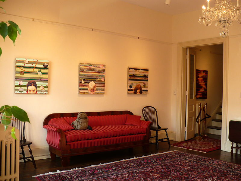 Acrylic painting In/Out of Place, Installation view, The Arts Club of Washington by Judy Southerland