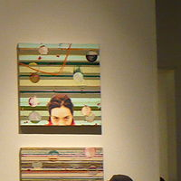 Acrylic painting In/Out of Place, Installation view, Delaware Center for Contemporary Art by Judy Southerland