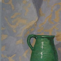 Oil painting Provencal Jug by Jill  Tompkins