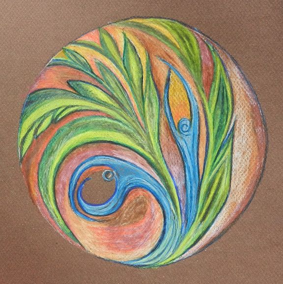 Drawing Flowing with Life by Kathleen Horne