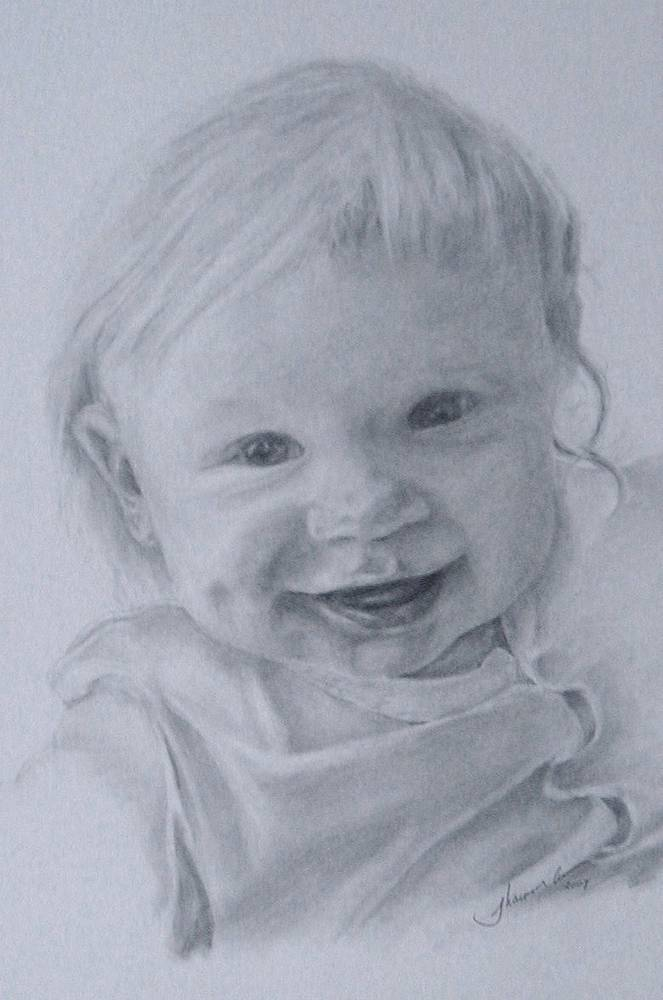 Drawing Malach five months old by Shannon Coyle