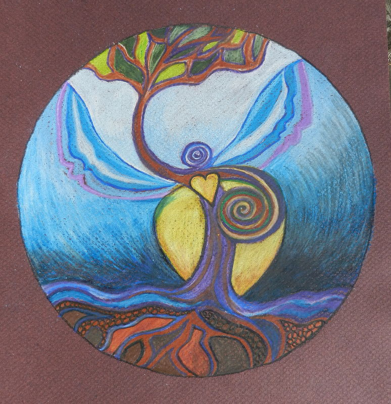 Drawing Goddess of Balance by Kathleen Horne