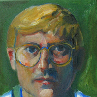 Oil painting David Hockney No. 2 by Cody Blomberg
