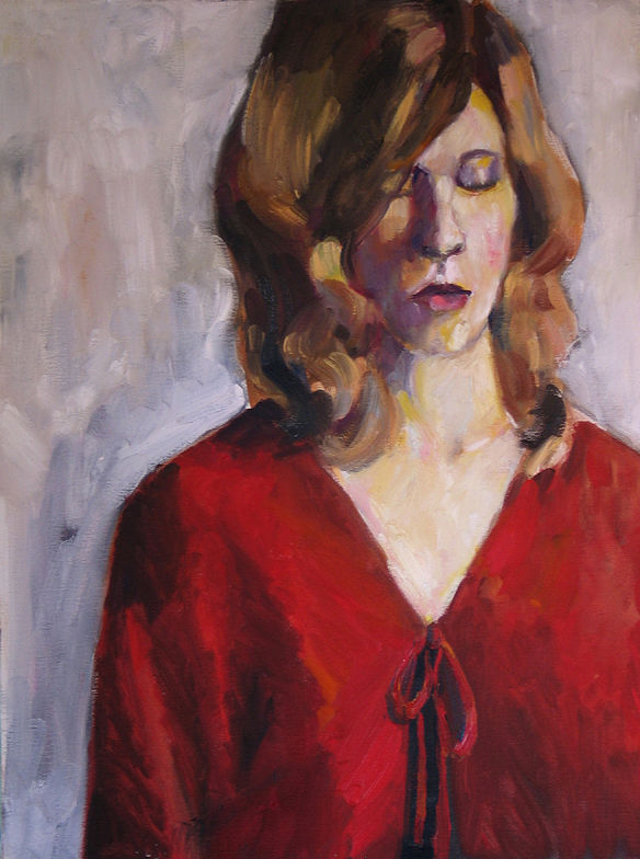 Oil painting Red Cloak by Cody Blomberg