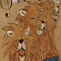 Painting Singing Lions by Cody Blomberg