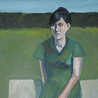 Oil painting Green Dress by Cody Blomberg