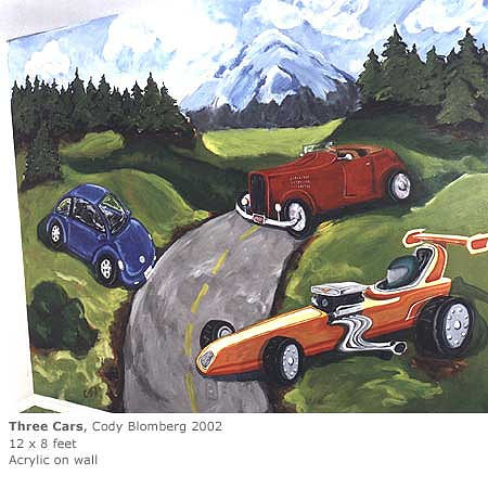 Acrylic painting CARS! by Cody Blomberg