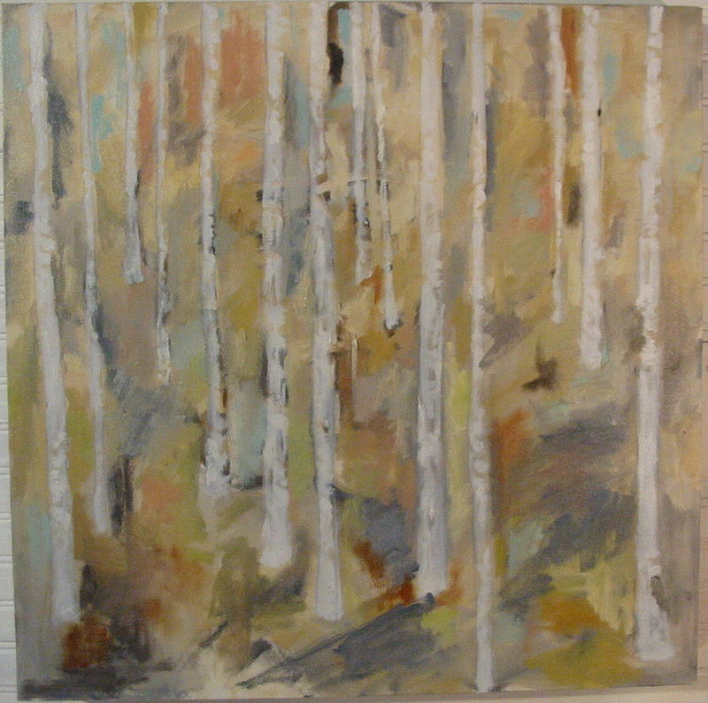 Oil painting Birch Forest by Cody Blomberg