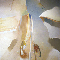 Oil painting Muted Lily by Gary Eleinko