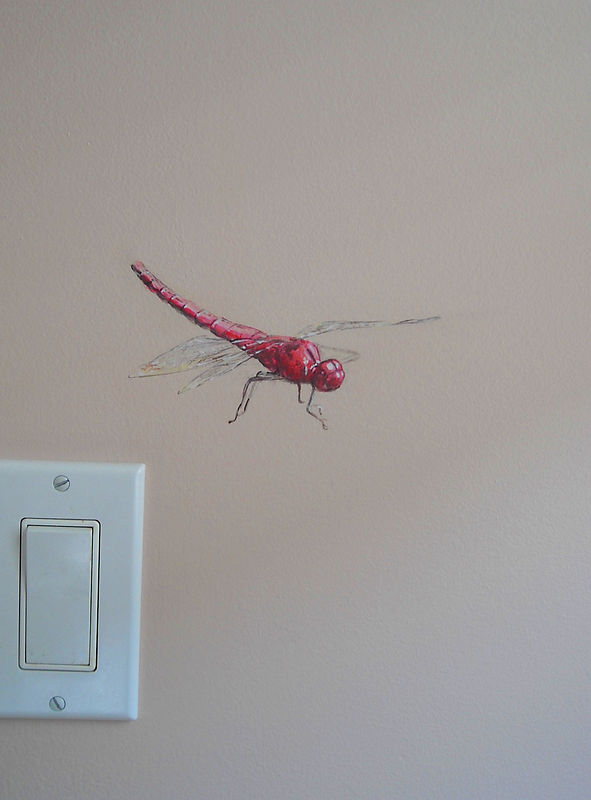 HORSE MURAL - DRAGON FLY by Cindy Scaife