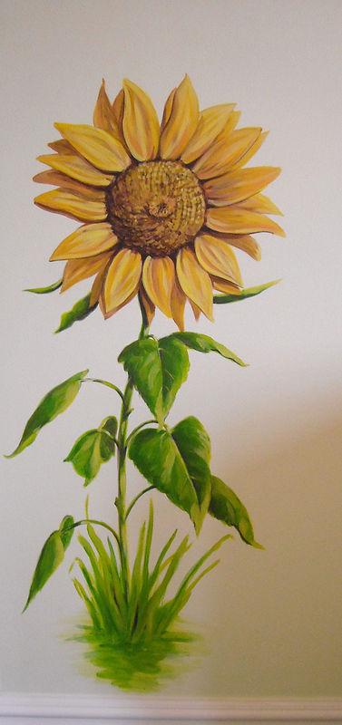 Horse Mural Sunflower Cindy Scaife
