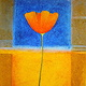 Acrylic painting Big Yellow Poppy by Allyson Malek