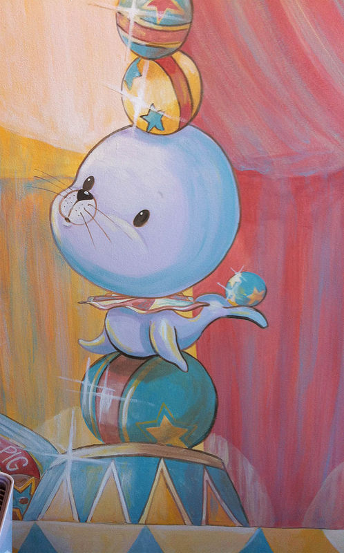 Painting CIRCUS MURAL - Detail image - Seal by Cindy Scaife