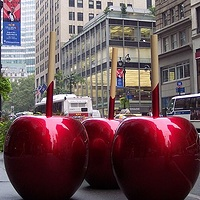Painting The Really Big Candy Apples by El Celso