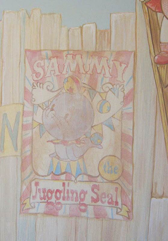 "Painting CIRCUS MURAL - Poster ""Sammy the Seal"" by Cindy Scaife"