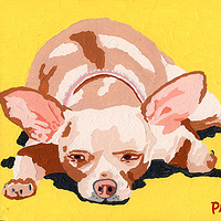 Acrylic painting Bamella by Phil Cummings