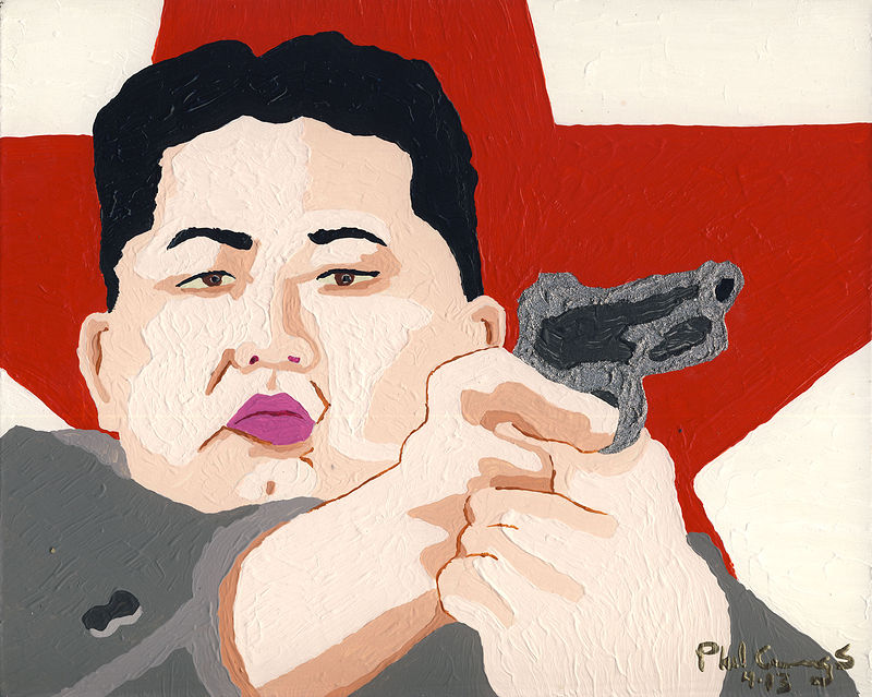 Acrylic painting Kim Jung Un by Phil Cummings