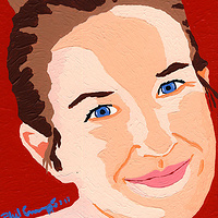 Acrylic painting Emily by Phil Cummings