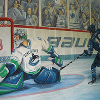 Painting Hockey Mural - Full 2 by Cindy Scaife