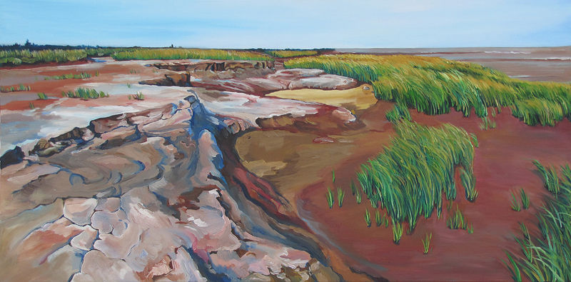 Oil painting Salted Earth by Michael McEwing