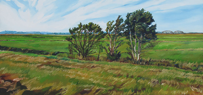 Oil painting A Wind Through the Marsh by Michael McEwing